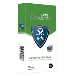 Prezerwatywy z aloesem - safe caring condoms aloe vera 10szt