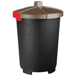 Kosz na śmieci keeeper mattis 65 l brązowy