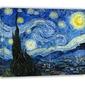 Gwieździsta noc - vincent van gogh - obraz na płótnie wymiar do wyboru: 90x60 cm