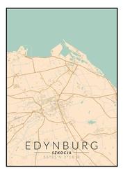 Edynburg mapa kolorowa - plakat wymiar do wyboru: 40x50 cm