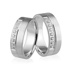 Obrączki srebrne z kolorowymi kamieniami - wzór ag-337