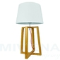 City lampa stołowa 1 drewno biały abażur