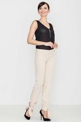 Beżowe spodnie z kokardką