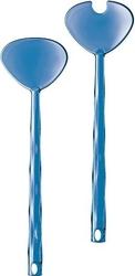 Łyżki do sałatek crystal niebieskie
