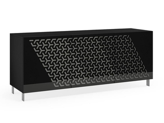 Nowoczesna komoda calisia czarno-szara z motywem geometrycznym  szer. 180 cm