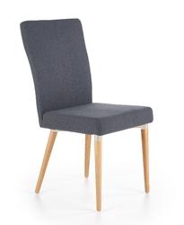 Krzesło drewniane spear grafitowe skandynawskie do jadalni