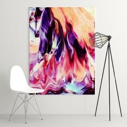 Abstrakcja malarska - modny obraz na ścianę , wymiary - 100cm x 150cm