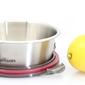 Pojemnik na żywność okrągły 0,64 litra szczelny, stalowy flora cuitisan ec7sr05