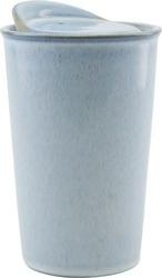 Kubek to go ceramiczny jasnoniebieski