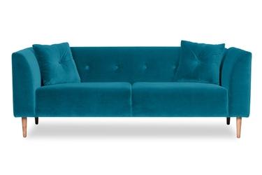 Sofa ginster welurowa 3-osobowa welur bawełna 100 turkusowy