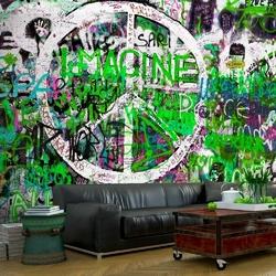 Fototapeta - zielone graffiti