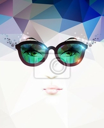 Obraz moda kobieta w okularach