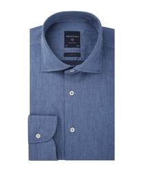 Męska niebieska koszula twill 45