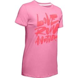 Koszulka damska under armour love run another short sleeve - różowy