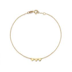 Staviori Bransoleta serca 19cm. Żółte Złoto 0,585.  Długość regulowana 19cm lub 18cm.
