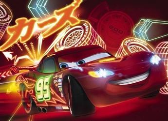 Fototapeta disney samochody neon 4477