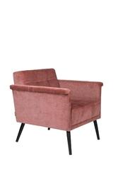 Dutchbone :: fotel tapicerowany lounge różowy