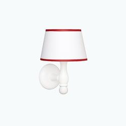 Kinkiet roomee decor - biały z czerwoną lamówką
