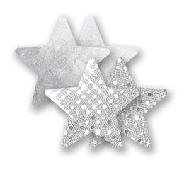 Nakładki na sutki bieliźniane - nippies solid studio silver star