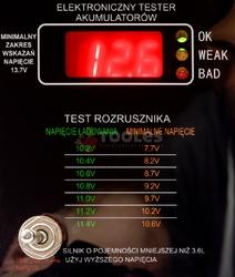 Tester miernik ładowania akumulatorów lcd 12v oporowy