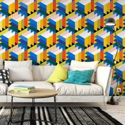 Tapeta na ścianę - solid cubes , rodzaj - tapeta flizelinowa
