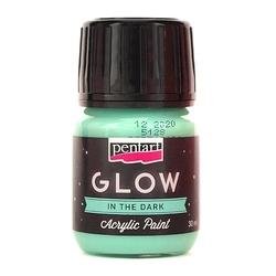 Farba akrylowa glow 30 ml - niebieska - nie