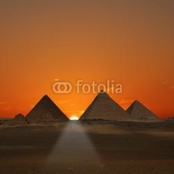Obraz na płótnie canvas wschód słońca piramid giza, egipt
