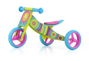 Milly mally jake rainbow drewniany rowerek biegowy 2w1 + prezent 3d