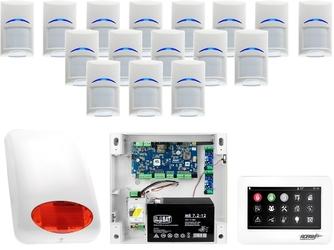 Zestaw alarmowy ropam neogsm-ip 16 x czujka bosch manipulator dotykowy tpr-4ws wifi gsm