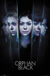 Orphan black faces - plakat z serialu