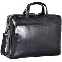 Skórzana torba na laptopa 15 unisex daag albedo 2 czarna - czarny