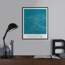 Nowy jork - niebieska mapa