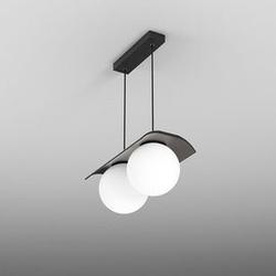 Aqform :: lampa wisząca modern ball czarna białe klosze szer. 34 cm