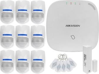 Za12670 bezprzewodowy system alarmowy gsm 4g 9 czujek ruchu hikvision ds-pwa32-nst