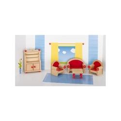 Salon drewniane mebelki do domku dla lalek