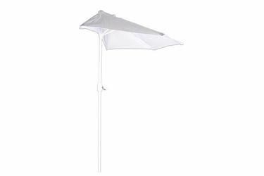 Parasol ogrodowy  półokrągły biały szerokość 270cm