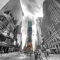 Times square silver new york - fototapeta