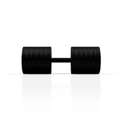 Hantla stalowa gumowana 45 kg czarny mat - marbo sport