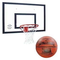 Zestaw do koszykówki tablica 120x90 cm + obręcz + piłka spalding grip control indooroutdoor