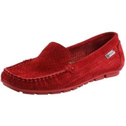 Czerwone mokasyny damskie nessi 17145 buty