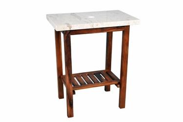 Szafka z blatem z marmuru - stolik do łazienki