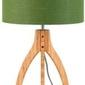 Goodmojo :: lampa stołowa annapurna trójnożna 30cmabażur 32x20cm,lniany zieleń lasu