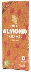 Oxfam | czekolada mleczna 37 z karmelizowanymi migdałami | organic - fair trade