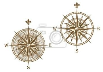 Naklejka starożytny kompas