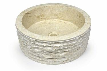 Umywalka nablatowa z marmuru zlew