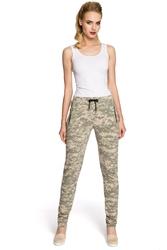 Bawełniane wygodne damskie spodnie moro moe239_3