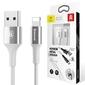 Baseus shining kabel usb lightning iphone 2a 1m srebrny - srebrny