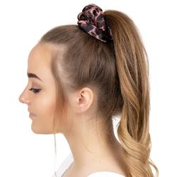 Gumka do włosów panterka scrunchie różowa
