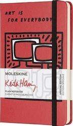 Notes moleskine keith haring kieszonkowy czerwony gładki