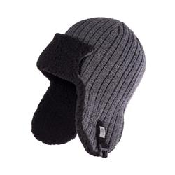 Zimowa ciepła czapka uszatka męska pamami 14055 szara